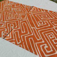 Batik Table Runner Orange LGB. Namibia.