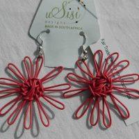 Daisy Purple Earrings. Fair Trade. Sydafrika.