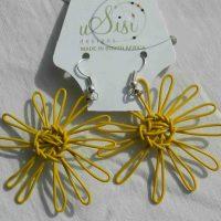 Daisy Yellow Earrings. Fair Trade. Sydafrika.