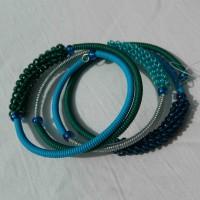 Deep Ocean Bracelet. Scoobie Wire. Fair Trade from South Africa.